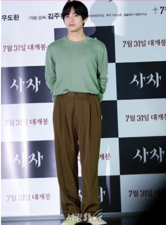 V BTS, BTS, V BTS quần nâu sòng, Park Seo Joon, The Divine Fury, Choi Woo Shik