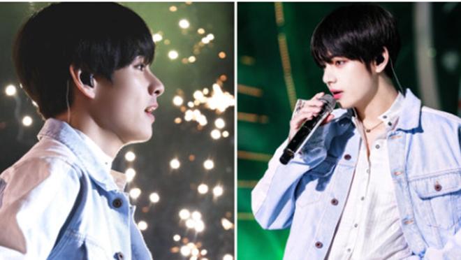 V BTS giống nhân vật nam chính trong một truyện tranh lãng mạn tại màn diễn ở Gwangju