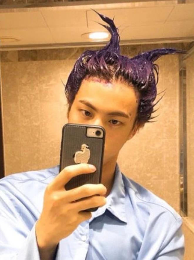 Jin BTS, Jin BTS nhuộm tóc, Jin BTS tự cắt tóc, Jin BTS phá cách, Boradori, Teletubbies, Tinky Winky
