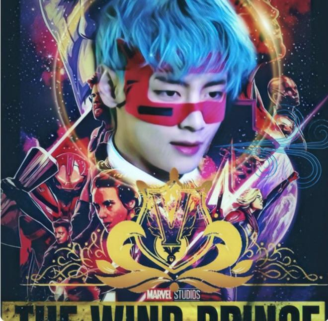 BTS, V BTS, V BTS nickname, V BTS siêu người hùng Marvel, V BTS Hoàng tử Gió, V BTS có nickname mới, tên kêu như siêu người hùng Marvel, V BTS đẹp trai, BTS V đẹp trai