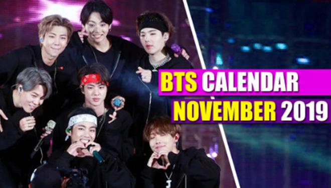Đây là lịch làm việc của BTS trong tháng 11
