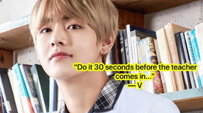 V BTS chia sẻ 'bí quyết' về cách kết bạn ở trường mới