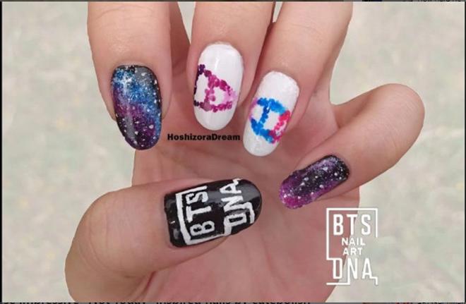 BTS, Bts, Nghệ thuật móng mang chủ đề BTS Blood Sweat & Tears, DNA, Not Today, bts