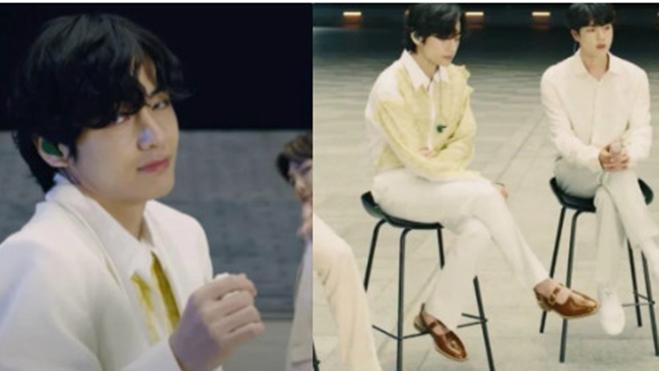 V BTS lại 'chơi trội', đi sandal hàng hiệu lên sân khấu trình diễn