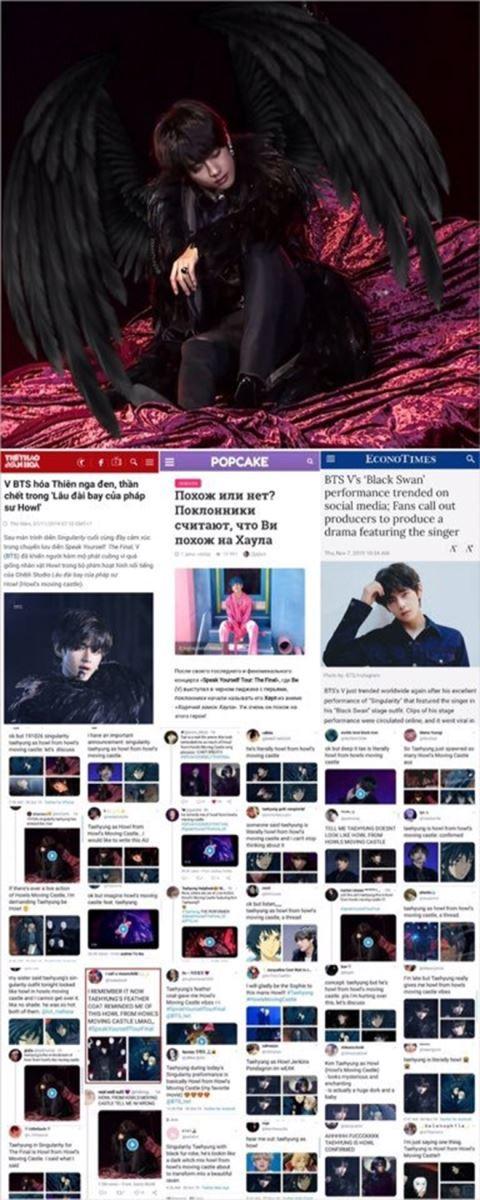 BTS, V BTS, V BTS là anime sống, Ghibli, Sweet Night, Singularity, Jungkook