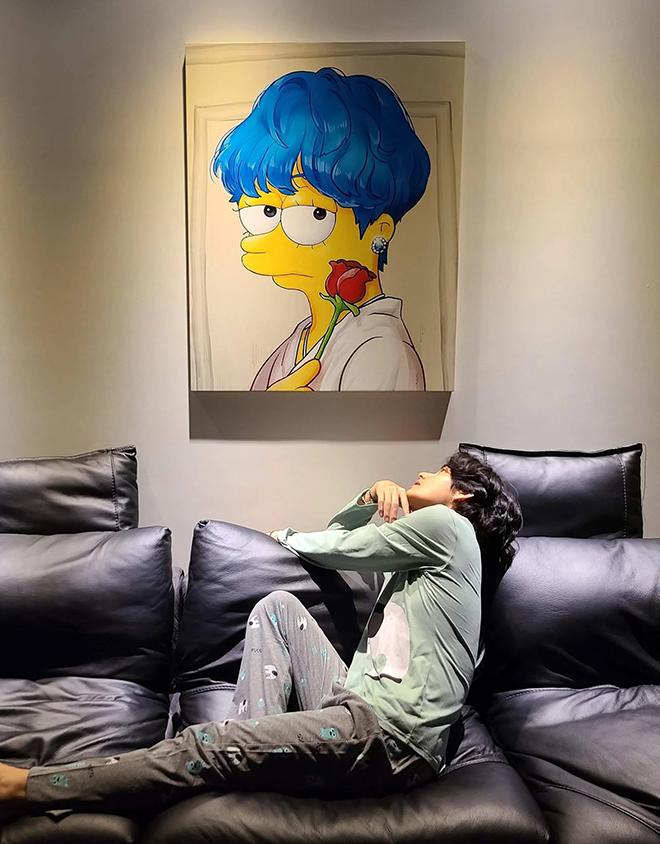BTS, V BTS, V BTS bạn cùng phòng tệ nhất, 4 O'Clock, The Simpsons, Weverse,    Yeontan