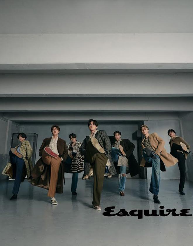 BTS, BTS hay chí chóe, Esquire, Suga, V BTS, Jimin, Jungkook, Jin, Vẻ nam tính