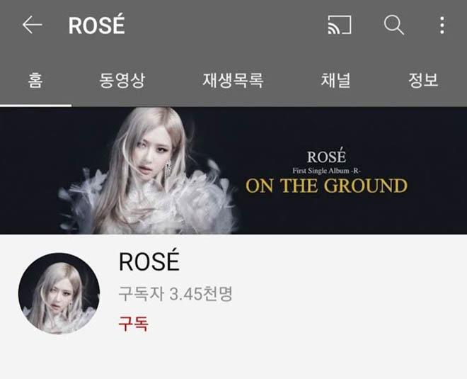 Blackpink, Rosé, Rose, Rosé Blacpink có kênh YouTube riêng, On The Ground