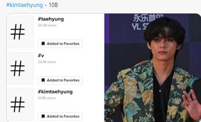 BTS, V BTS, V BTS lập kỷ lục trên TikTok, KimTaehyung, Taehyung, Hashtag của V BTS