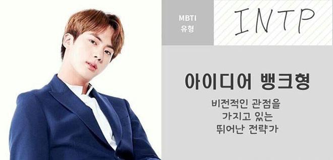 BTS, Jin, Jin thiên tài sáng tạo, Kiểu tính cách INTP của Jin BTS, Run BTS, MBTI