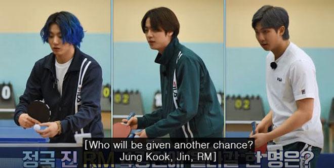 BTS, RM BTS, Thánh vụng RM BTS có cú đánh bóng bàn siêu việt, Jungkook, Run BTS