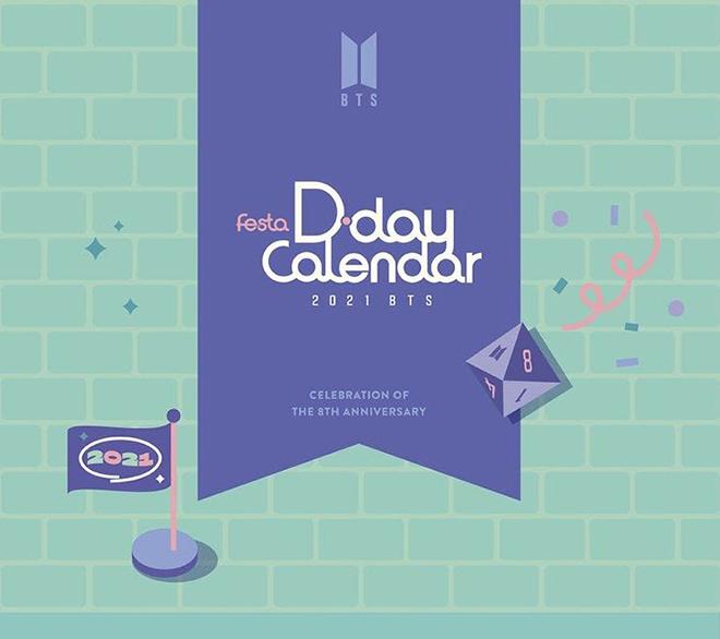 BTS, FESTA D-Day Calendar, BTS 8 năm thành lập, Chi tiết FESTA D-Day Calendar
