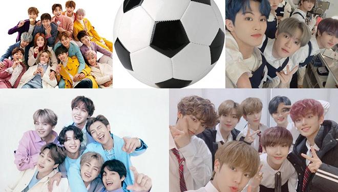 Kỹ năng chơi bóng đá 'gây choáng' của BTS, Seventeen…