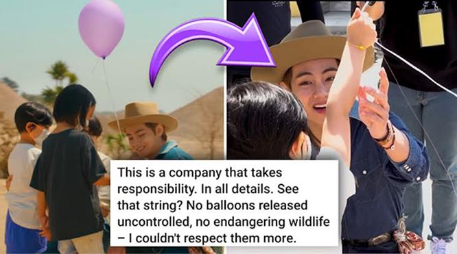 Thực hư cảnh quay thả bóng bay gây tranh cãi trong MV 'Permission To Dance' của BTS