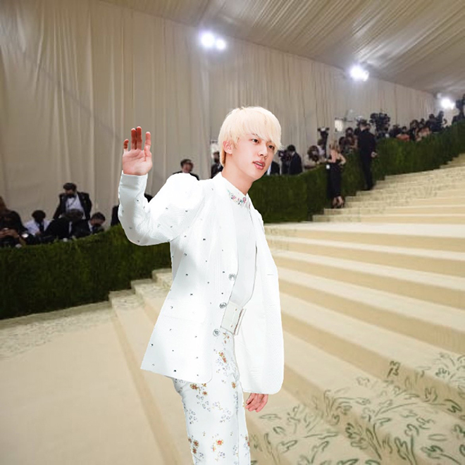 BTS, Meme hài hước do fan chế BTS tại Met Gala 2021, Jungkook, V BTS, RM BTS