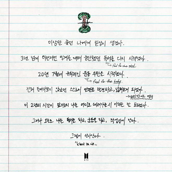 BTS, BTS chia sẻ cuộc sống cá nhân thời Covid-19, Jungkook, Suga, V BTS, RM BTS
