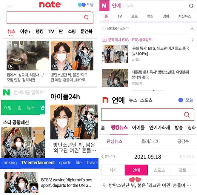 BTS, BTS lên đường sang Mỹ, Truyền thông Hàn Quốc tung hô V BTS, Hoàng tử Bé