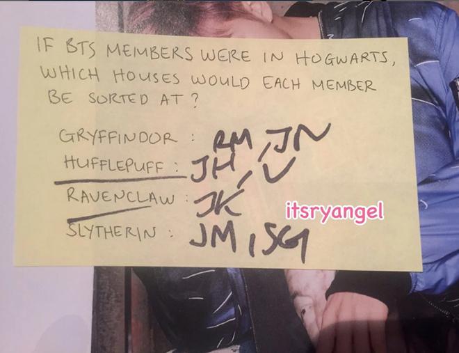BTS, Harry Potter, Hogwarts, Slytherin, Gryffindor, Ravenclaw, Hufflepuff, MAP OF THE SOUL 7, bts