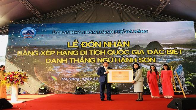 Danh thắng Ngũ Hành Sơn được xếp hạng là Di tích Quốc gia đặc biệt