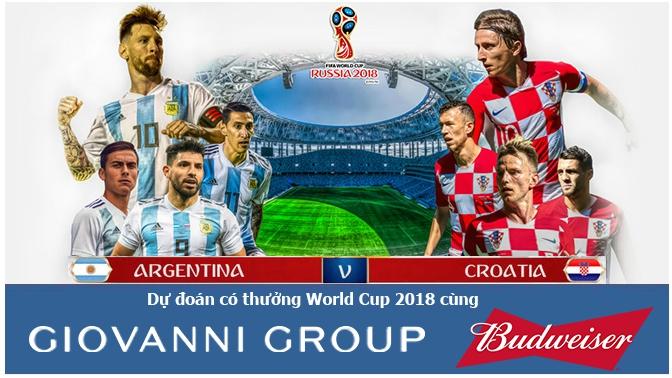 Dự đoán có thưởng World Cup 2018: Trận Argentina – Croatia