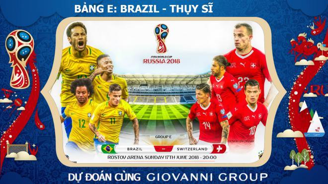 Dự đoán có thưởng World Cup 2018: Trận Brazil – Thụy Sĩ