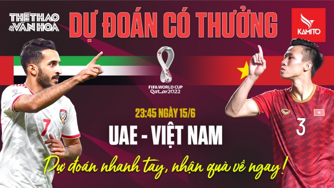 Dự đoán Vòng loại World Cup 2022: Trận UAE vs Việt Nam