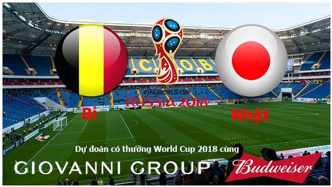 Dự đoán có thưởng World Cup 2018: Trận Bỉ - Nhật Bản (vòng 1/8)
