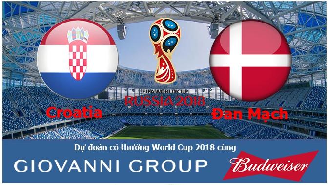 Dự đoán có thưởng World Cup 2018: Trận Croatia – Đan Mạch (vòng 1/8)