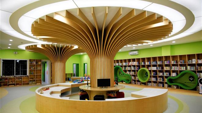 Trải nghiệm tại Thư viện Văn hóa thiếu nhi đang gây 'sốt' với cây ước mơ