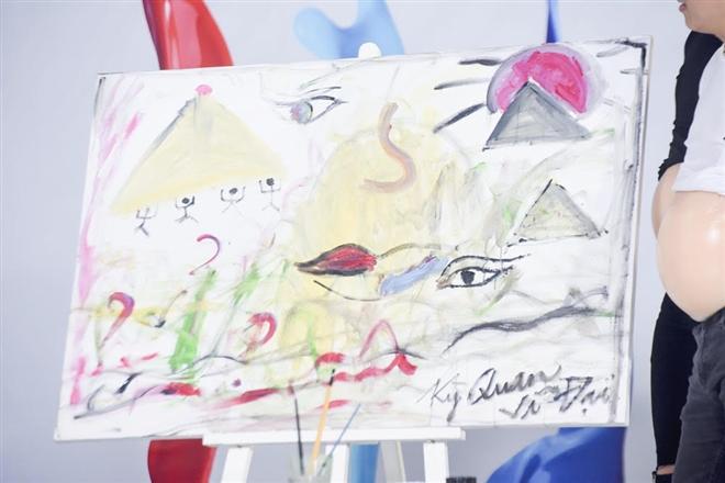 Bức tranh sáng tạo về em bé của nhà Kỳ - Vỹ