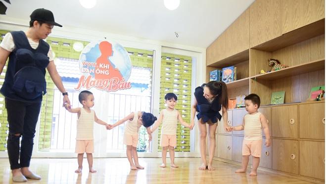 Tập 10 'Khi đàn ông mang bầu': 'Bảo mẫu' bất đắc dĩ Trường Giang, Hương Giang khiến trẻ sợ phát khóc
