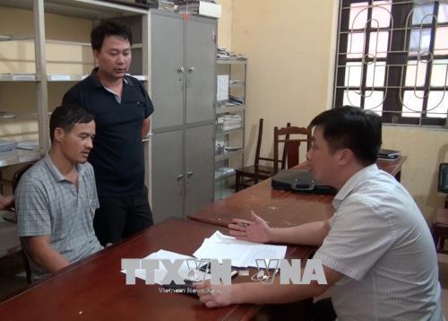 Tại cơ quan điều tra, Phạm Văn Xương đã thú nhận toàn bộ hành vi phạm tội. Ảnh: Đinh Tuấn/TTXVN