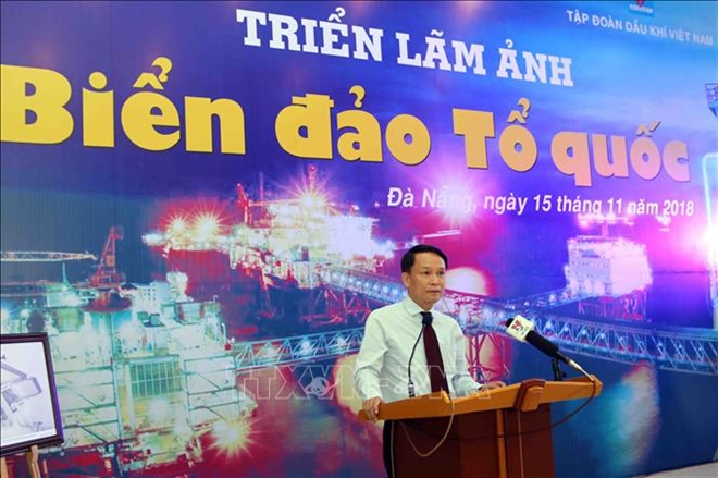 Phát biểu tại lễ khai mạc triển lãm, đồng chí Nguyễn Đức Lợi, Ủy viên Trung ương Đảng, Tổng Giám đốc TTXVN
