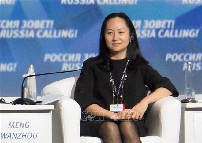 Bà Mạnh Vãn Chu, Giám đốc Tài chính Tập đoàn Huawei của Trung Quốc. Ảnh: Reuters/TTXVN