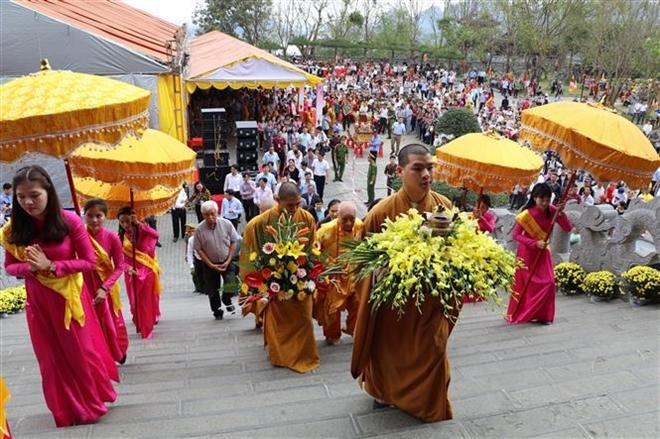 Trong ảnh: Một nghi lễ trong lễ khai mạc. Ảnh: Ninh Đức Phương - TTXVN