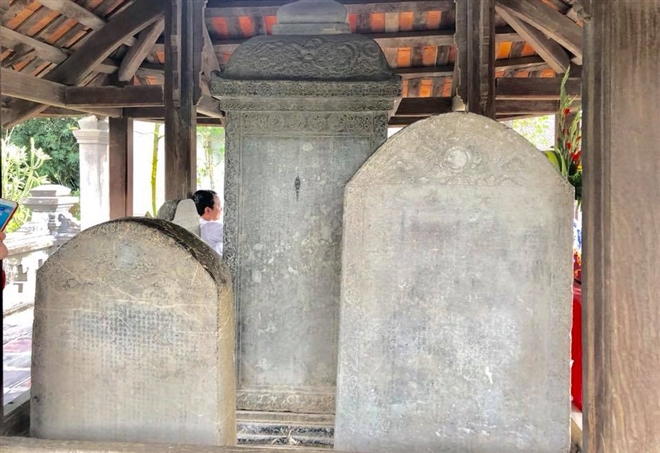 Bia đá tại Cổ Loa