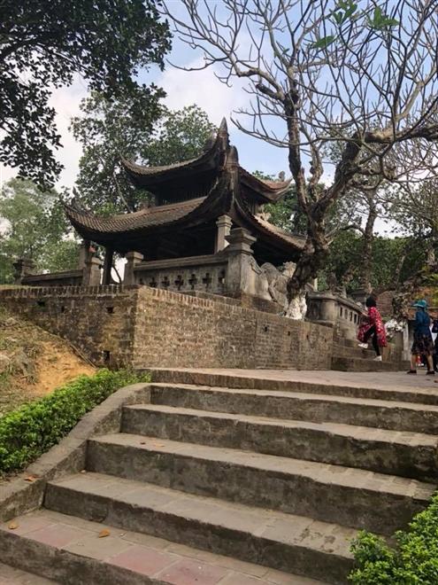 Một góc kiến trúc tại Cổ Loa