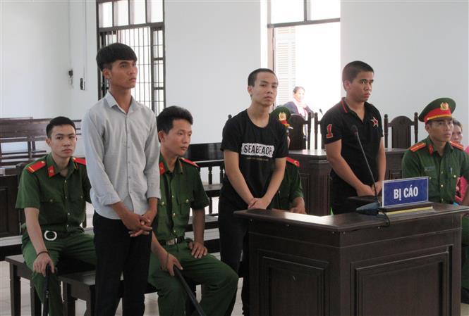 Trong ảnh: Các bị cáo tại phiên xét xử. Ảnh: Nguyễn Thành – TTXVN