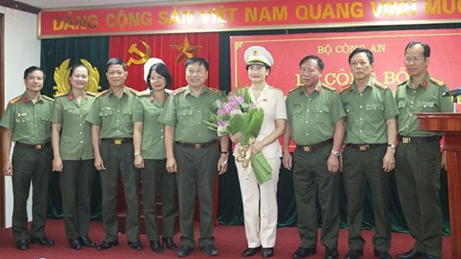 Bộ Công an bổ nhiệm nữ Thiếu tướng giữ chức Cục trưởng, Bộ Công an