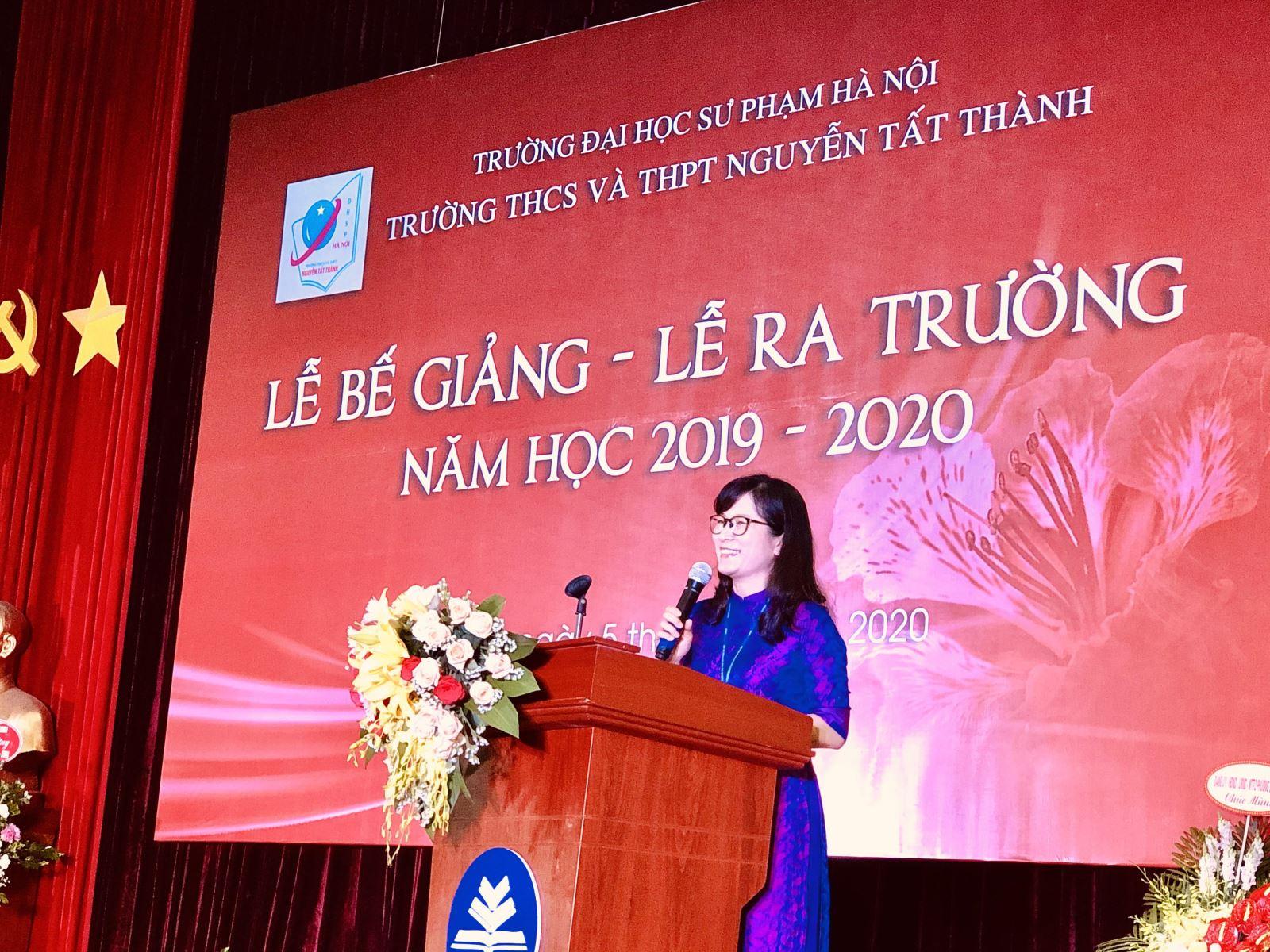 Hiệu trưởng Nguyễn Thị Thu Anh