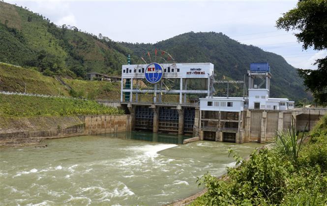 Trong ảnh: Nhà máy thủy điện Vĩnh Hà đảm bảo an toàn hồ đập cho mùa mưa lũ năm 2020. Ảnh: Quốc Khánh - TTXVN