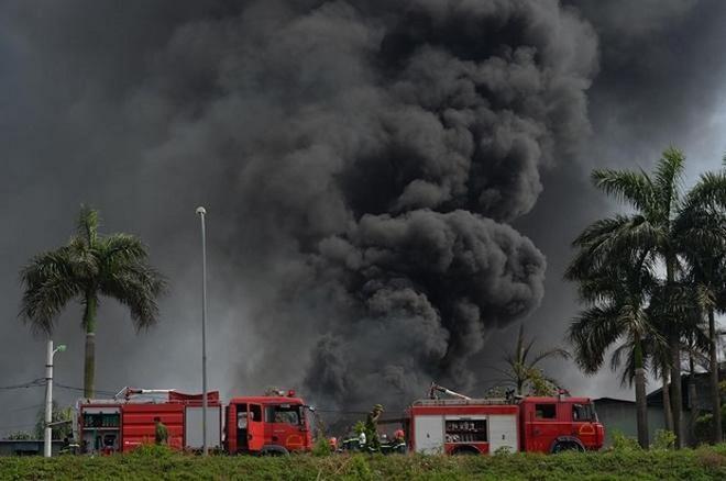 Hình ảnh vụ cháy