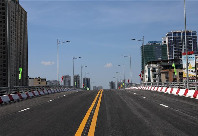 Trong ảnh: Tổng chiều dài của cầu là 278m, rộng 16m. Ảnh: Huy Hùng - TTXVN
