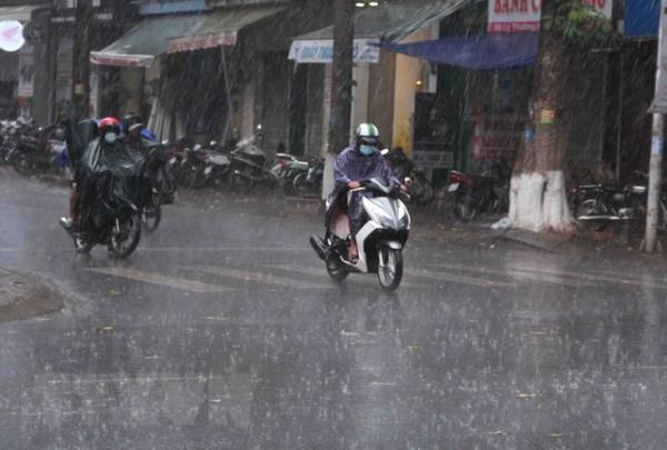 Vùng xoáy thấp sẽ gây mưa