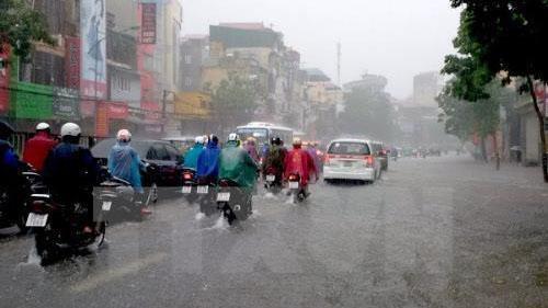 Rãnh áp thấp gây mưa lớn ở Bắc Bộ từ chiều tối ngày 6/9