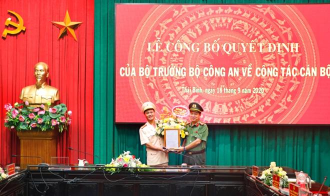 Bộ trưởng Bộ Công an bổ nhiệm chức vụ Phó Giám đốc Công an tỉnh Thái Bình đối với đồng chí Thượng tá Nguyễn Quốc Vương - Trưởng phòng Tham mưu Công an tỉnh Thái Bình.