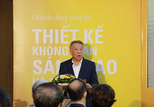 Ông Tô Văn Động, Giám đốc Sở Văn hoá và Thể thao Hà Nội – Trưởng ban tổ chức cuộc thi phát biểu tại buổi lễ.