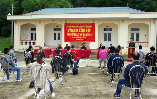 125 công dân hoàn thành cách ly tập trung tại Nam Định. Ảnh: Văn Đạt - TTXVN