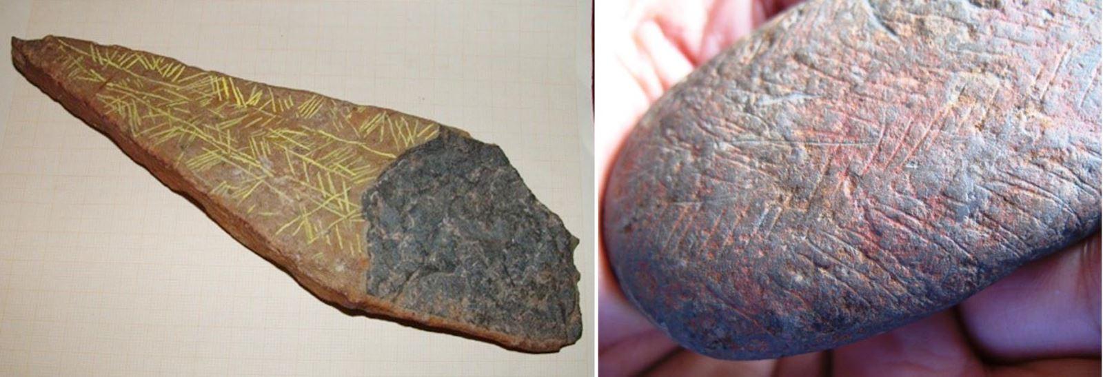 Những mô típ mang biểu trưng nghệ thuật đầu tiên từ các viên đá khoáng