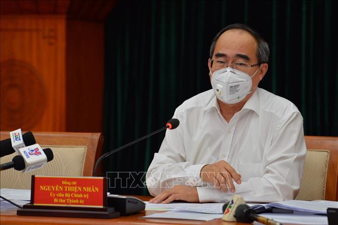 Giao ban Chỉ đạo phòng chống dịch Covid-19 tại thành phố Hồ Chí Minh